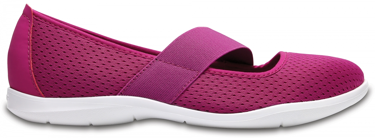 Crocs Swiftwater Flat - Vibrant Violet/White, W7 (37-38)