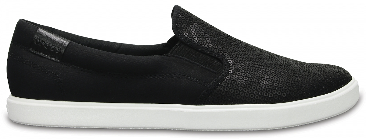 Crocs CitiLane Sequin Slip-on - Black, W10 (41-42)