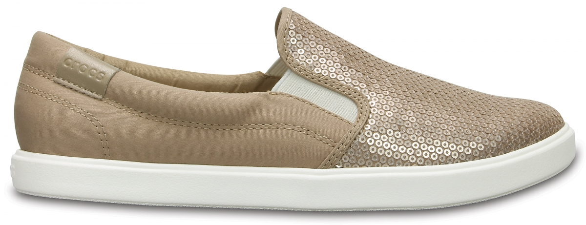 Crocs CitiLane Sequin Slip-on - Gold, W8 (38-39)