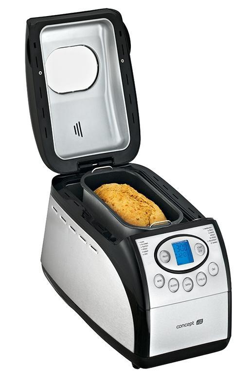 Pekárna chleba Concept PC5060 - nerezová, 12 programů