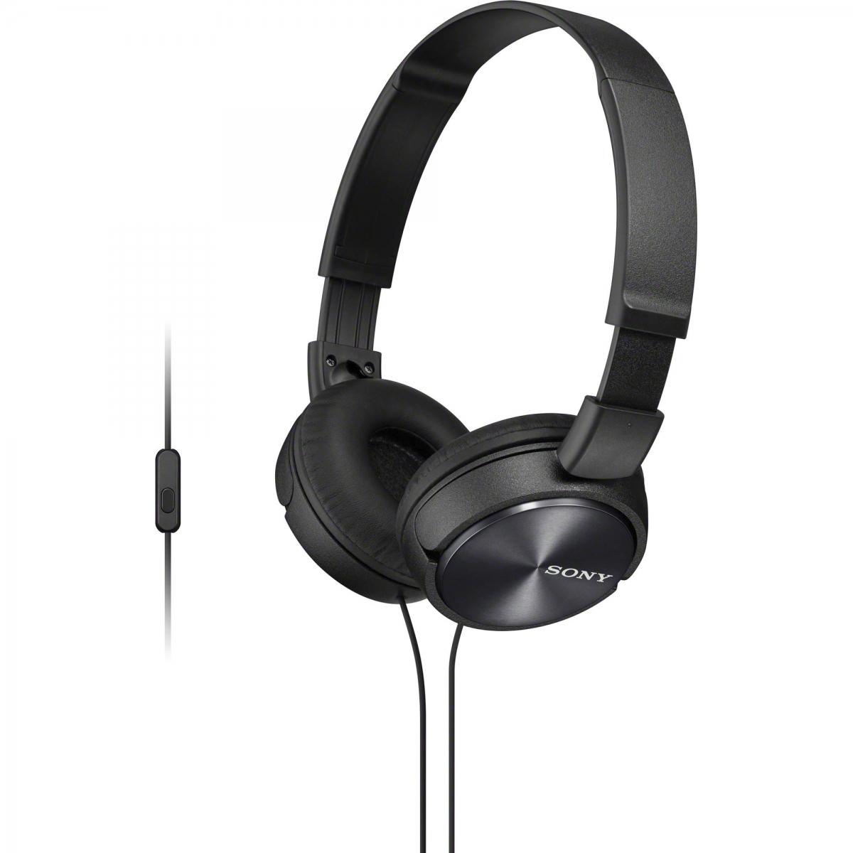 Trhák SONY sluchátka MDR-ZX310AP s handsfree, černá - černá MDRZX310APB.CE7