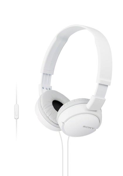 SONY sluchátka MDR-ZX110AP s mikrofonem - bílá MDRZX110APW.CE7