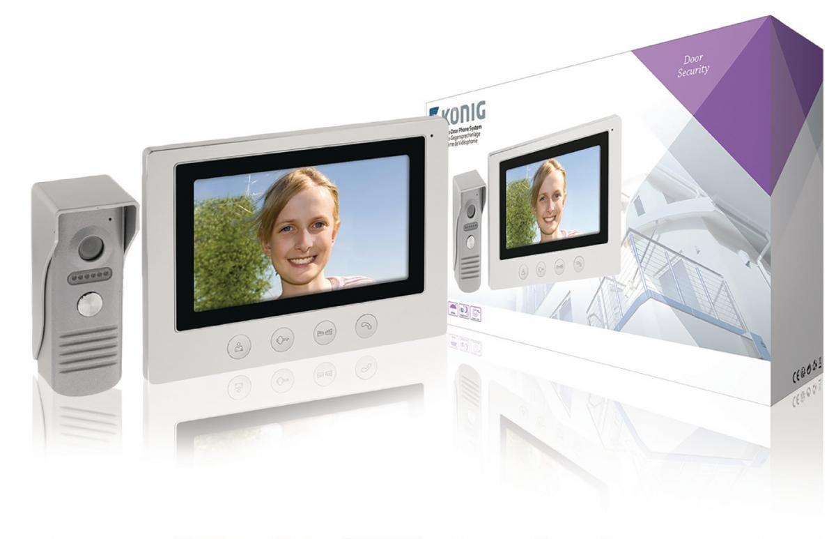 """König SAS-VDP100 - dveřní videotelefon, LCD 7"""""""