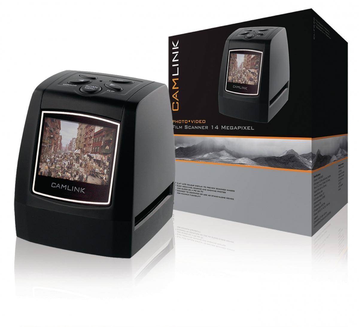 "Filmový skener Camlink CL-FS30, 14 MPixel, 2,4"" LCD"