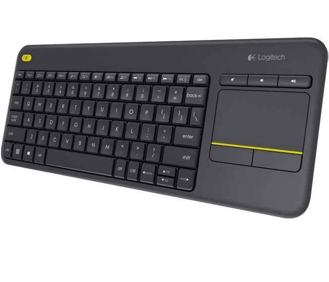 Logitech Wireless Touch Keyboard K400 plus, USB,CZ 920-007151