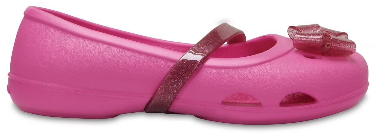 Crocs Lina Flat Kids - Party Pink, C8 (24-25)