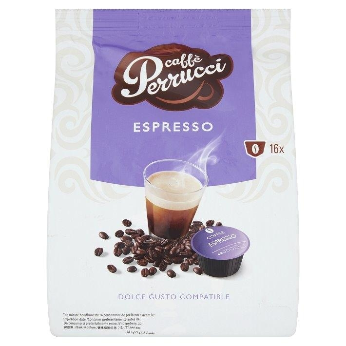 Kapsle Caffé Perrucci Espresso - do kávovarů Dolce Gusto