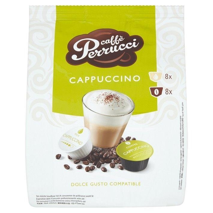 Kapsle Caffé Perrucci Cappuccino - do kávovarů Dolce Gusto