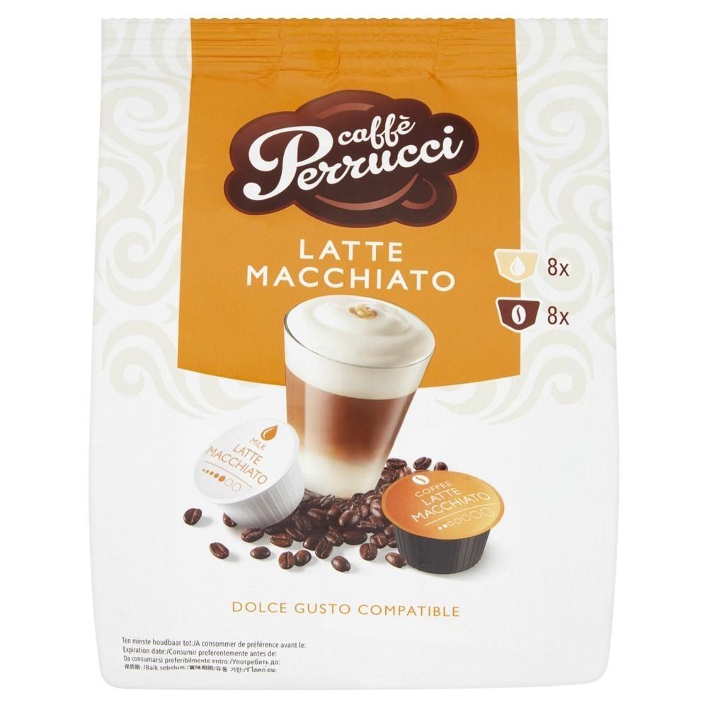 Kapsle Caffé Perrucci Latte Macchiato - do kávovarů Dolce Gusto