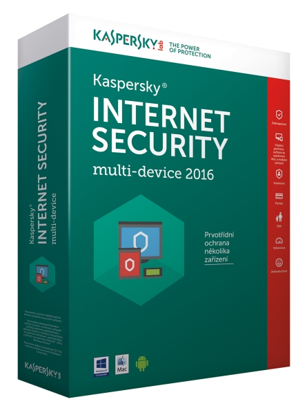 Kaspersky Internet Security MD 2016/2017 3+1 zařízení /1 rok NOVÁ licence CZ Krabice KL1941OBDFS-6MCZ