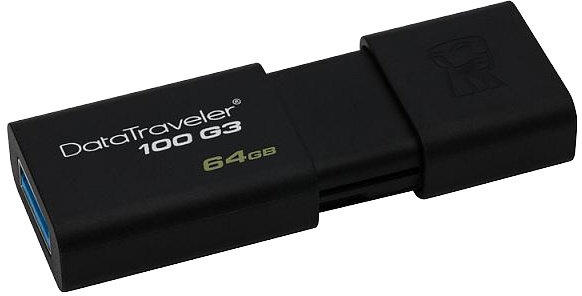 128GB Kingston USB 3.0 DataTraveler 100 G3 (100MB/s čtení) DT100G3/128GB