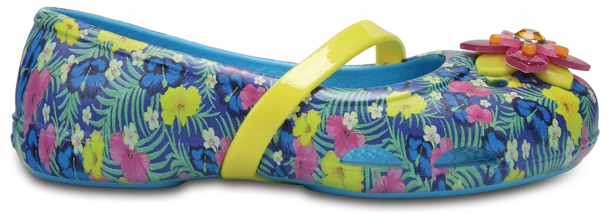 Crocs Lina Graphics Flat Kids - Electric Blue, J2 (33-34)