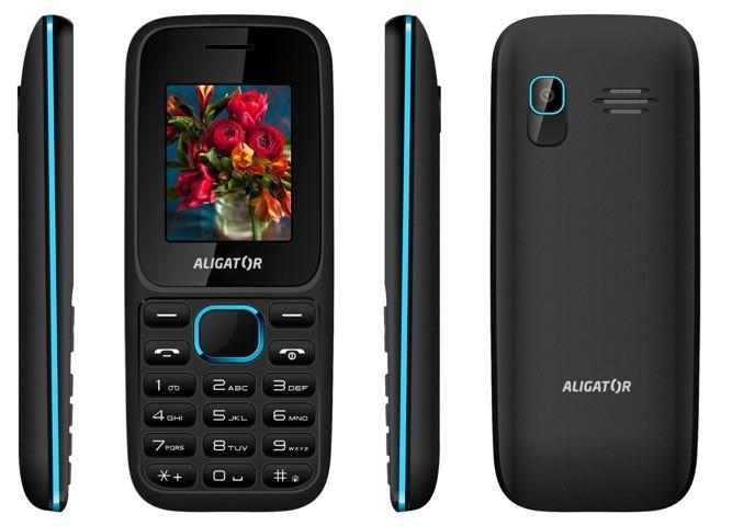 Trhák ALIGATOR D200 Dual sim černo-modrý AD200BB