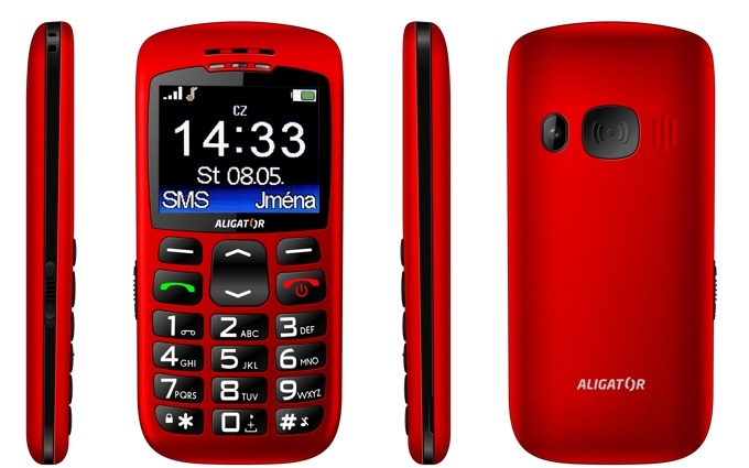 ALIGATOR A670 Senior červený + stol.nab. A670R
