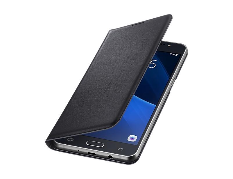 Originální pouzdro Samsung Wallet pro Galaxy J5 (2016), černé EF-WJ510PBEGWW