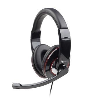 Herní sluchátka Gembird MHS-001 s mikrofonem - černá MHS-001