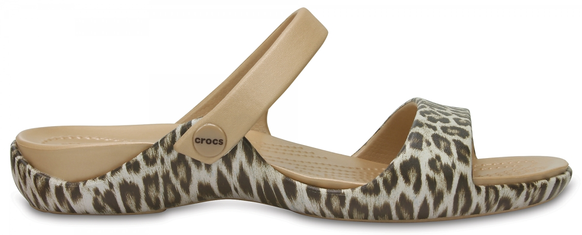 Crocs Cleo V Graphic - Leopard/Black, W6 (36-37)