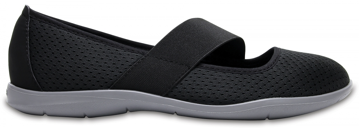 Crocs Swiftwater Flat - Black/Smoke, W9 (39-40)