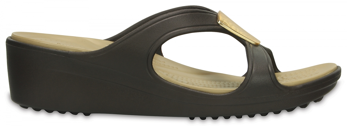 Crocs Sanrah Embellished Wedge - Bronze/Gold, W8 (38-39)