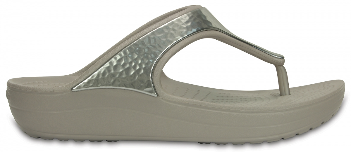 Crocs Sloane Embellished Flip - Platinum, W7 (37-38)