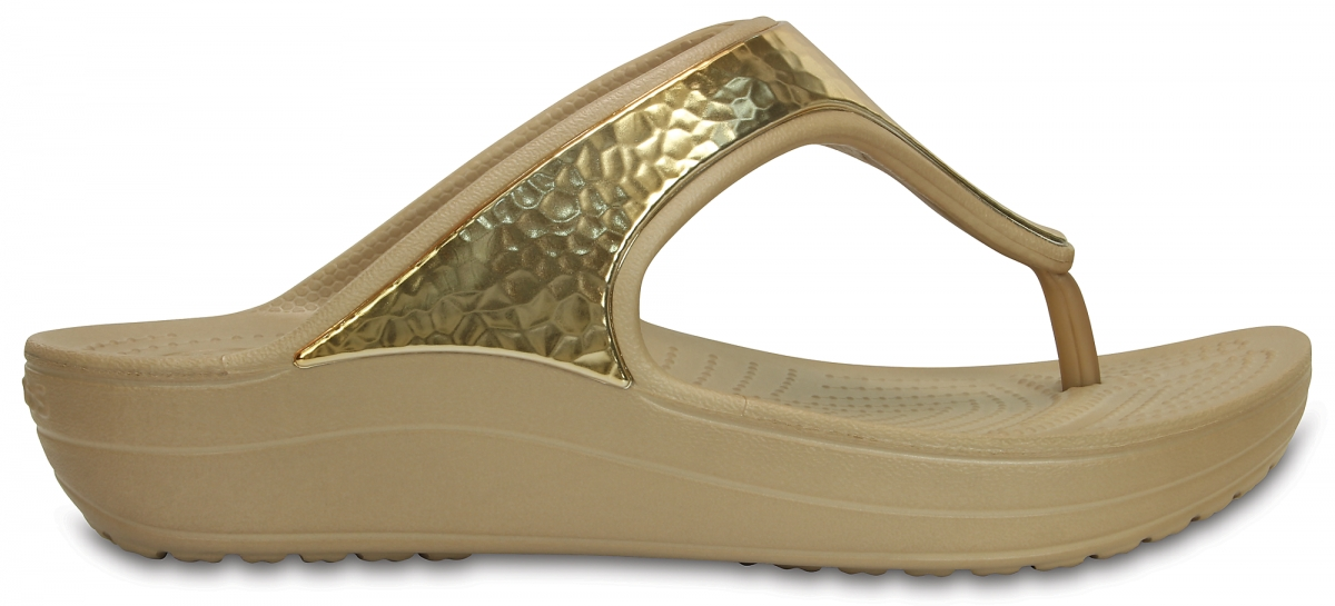 Crocs Sloane Embellished Flip - Gold Metalic, W7 (37-38)