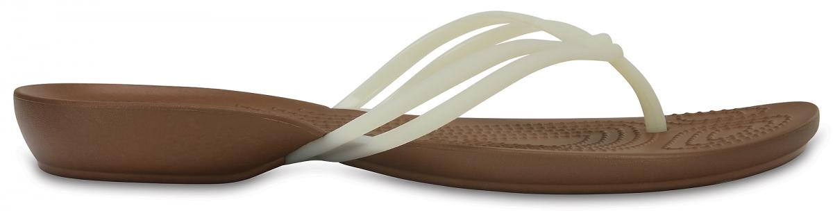 Crocs Isabella Flip - White/Bronze, W9 (39-40)