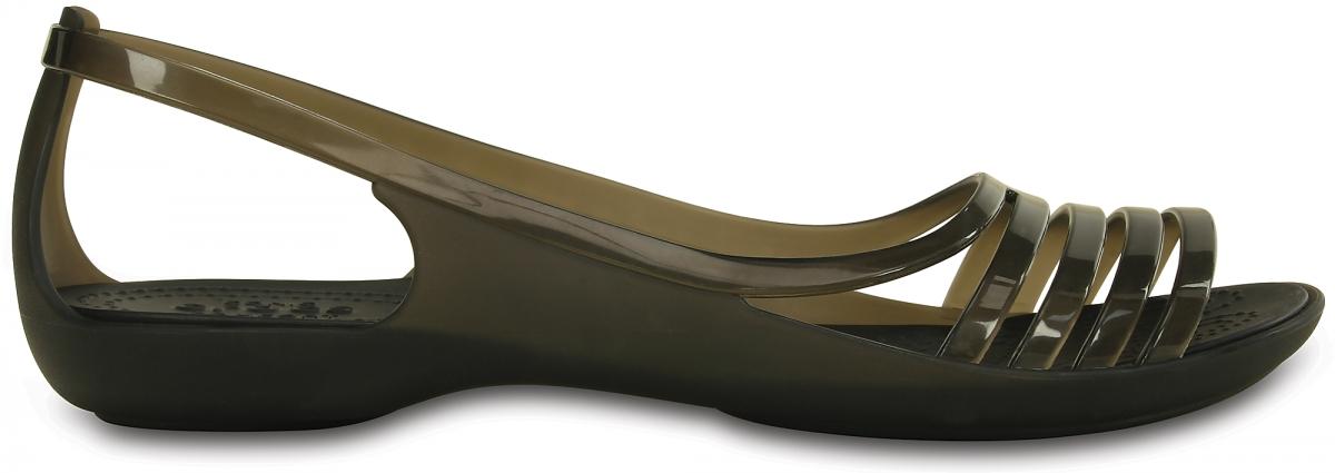 Crocs Isabella Huarache Flat - Black, W6 (36-37)