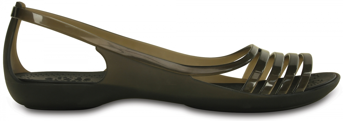 Crocs Isabella Huarache Flat - Black, W7 (37-38)
