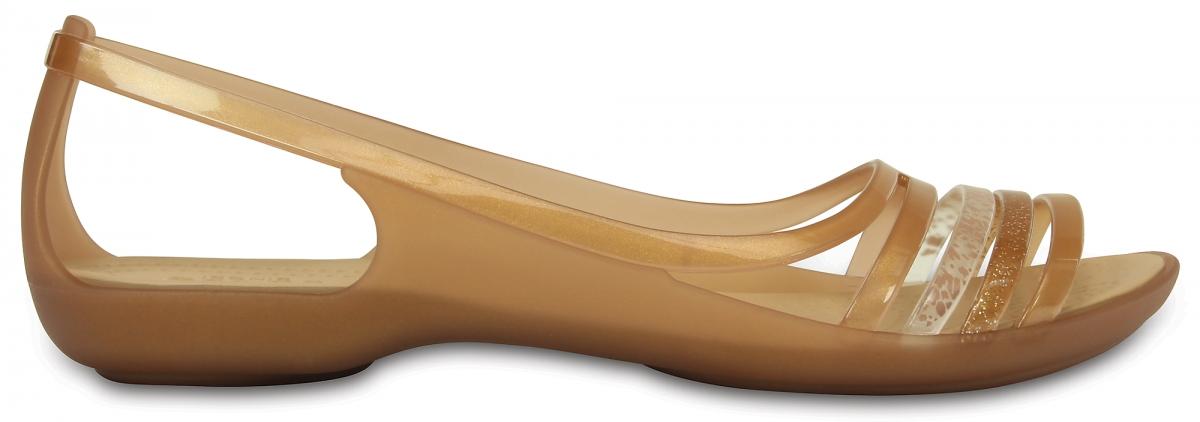 Crocs Isabella Huarache Flat - Bronze, W9 (39-40)