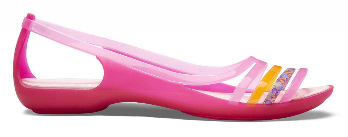 Crocs Isabella Huarache Flat - Petal Pink/Coral, W6 (36-37)