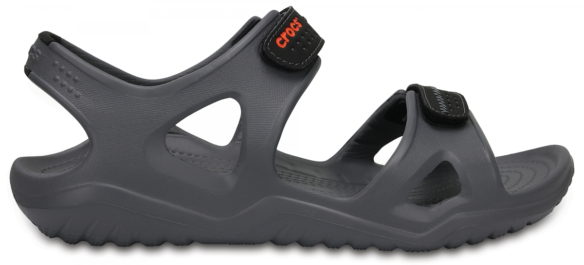 Crocs Swiftwater River Sandals - Charcoal/Black, M10 (43-44)