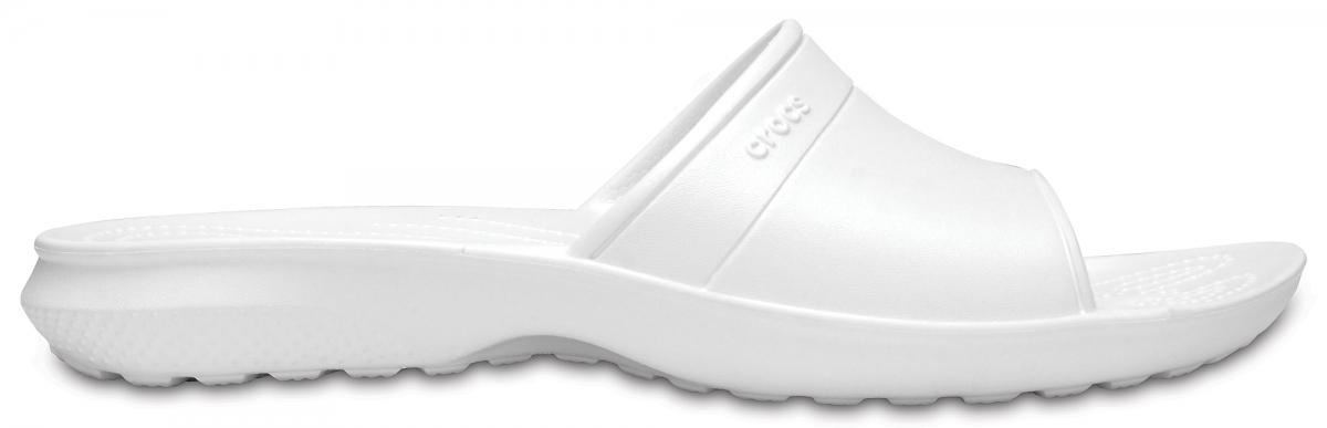 Crocs Classic Slide - White, M5/W7 (37-38)