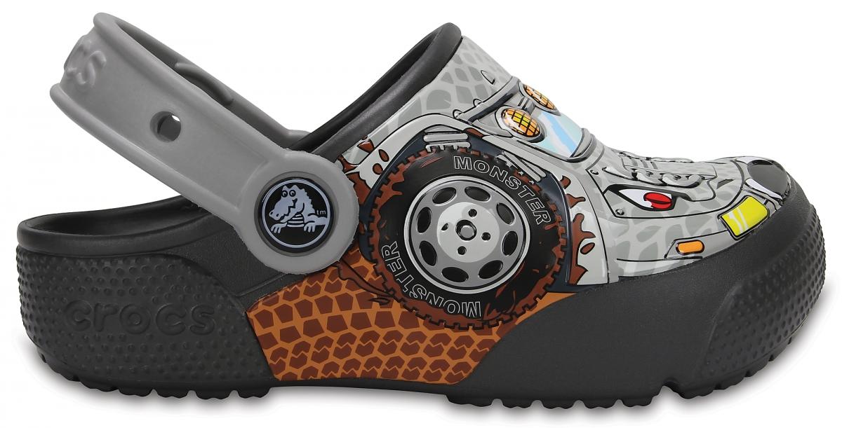 Crocs Fun Lab Lights - Monster Truck/Graphite, C12 (29-30)
