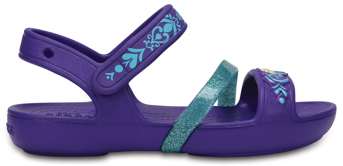 Crocs Lina Frozen Sandals - Ultraviolet, J2 (33-34)