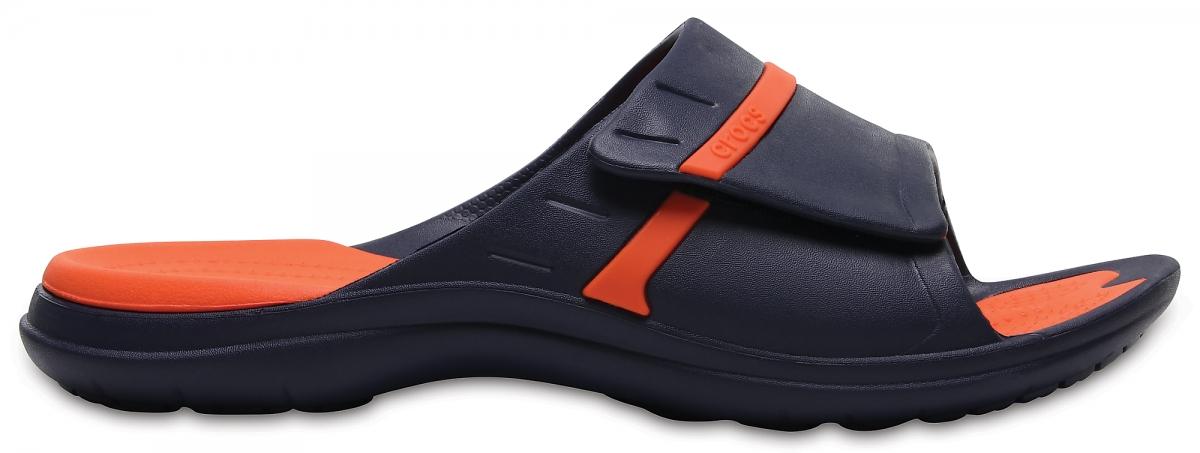 Crocs MODI Sport Slide - Navy/Tangerine, M8/W10 (41-42)