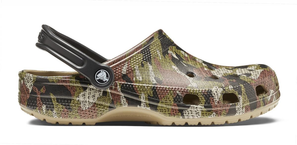 Crocs Classic Camo Clog - Khaki, M12 (46-47)