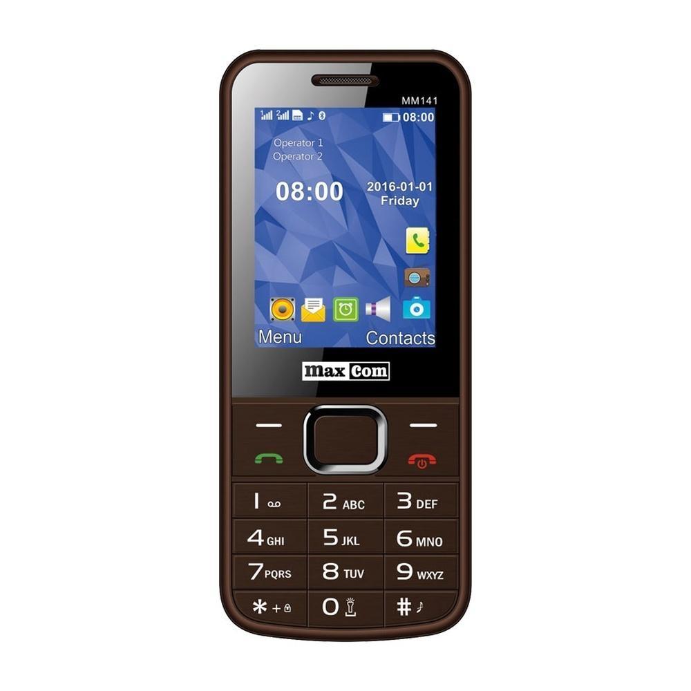 Mobilní telefon Maxcom MM141, DualSIM, hnědý MM141BR