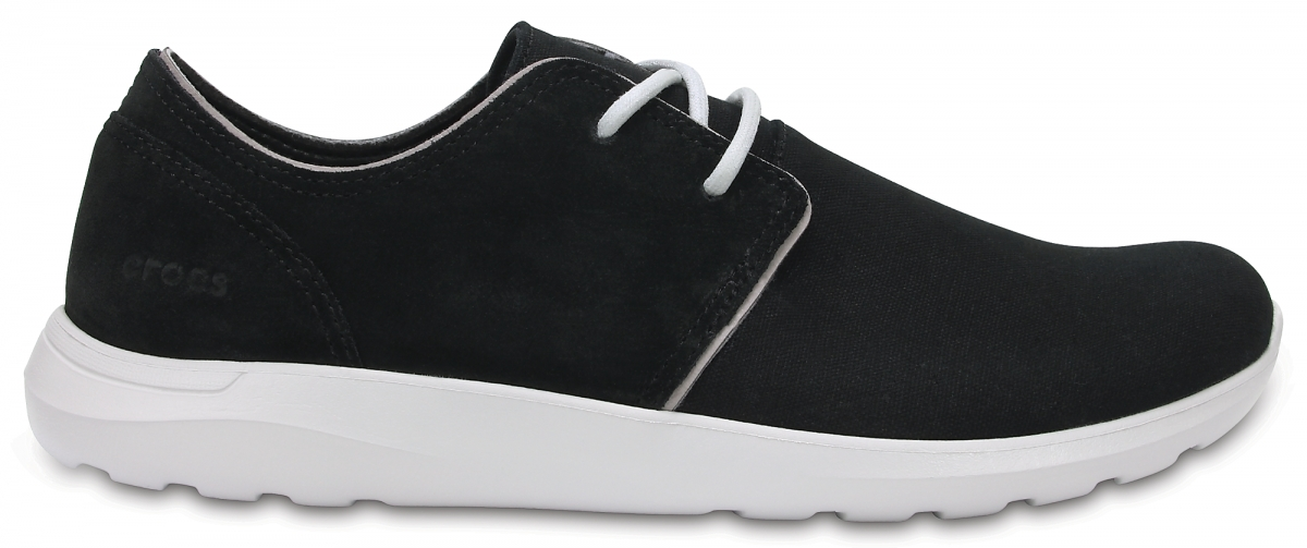 Crocs Kinsale 2-Eye Shoe - Black/Pearl White, M9 (42-43)