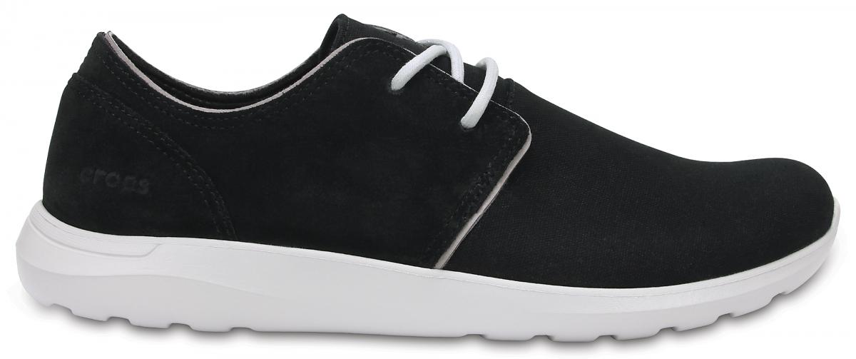 Crocs Kinsale 2-Eye Shoe - Black/Pearl White, M12 (46-47)