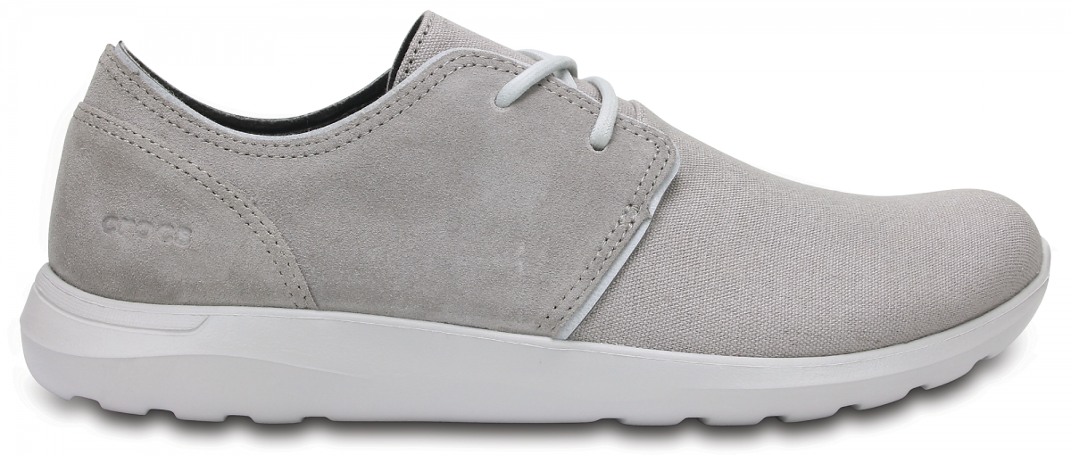 Crocs Kinsale 2-Eye Shoe - Charcoal/Pearl White, M11 (45-46)