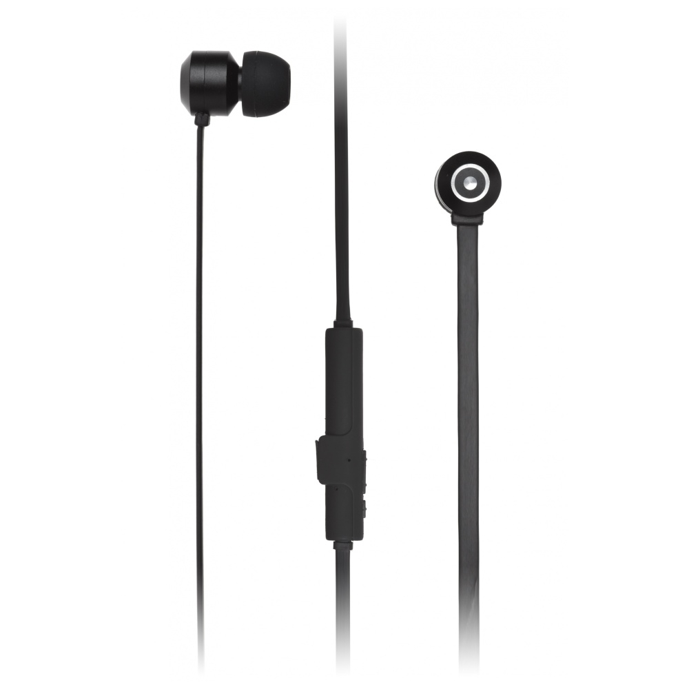 Bezdrátová sluchátka KITSOUND RIBBONS s mikrofonem, BT 4.1, plochý kabel, magnetic housing, černá KSRIBBTBK