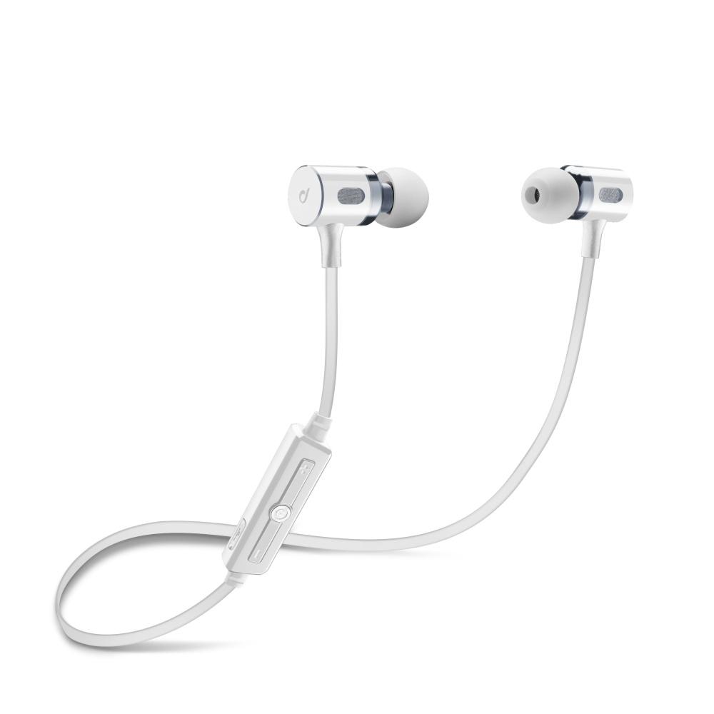 Bezdrátová In-ear stereo sluchátka Cellularline MOSQUITO - bílá BTMOSQUITOW