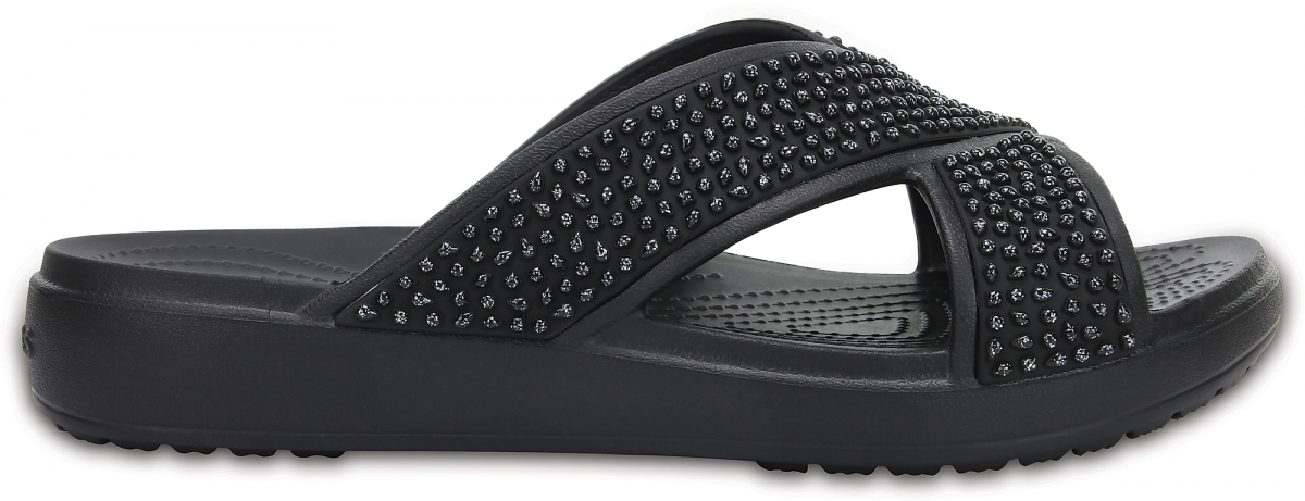 Crocs Sloane Embellished XStrap - Black, W10 (41-42)