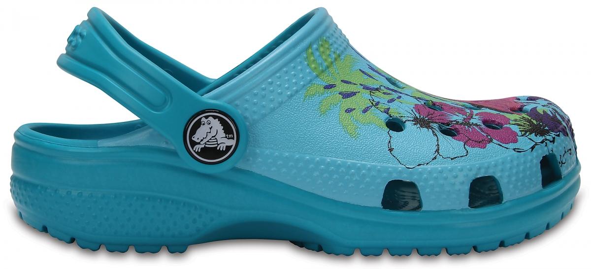 Crocs Classic Graphic Clog Kids - Turquoise, J3 (34-35)