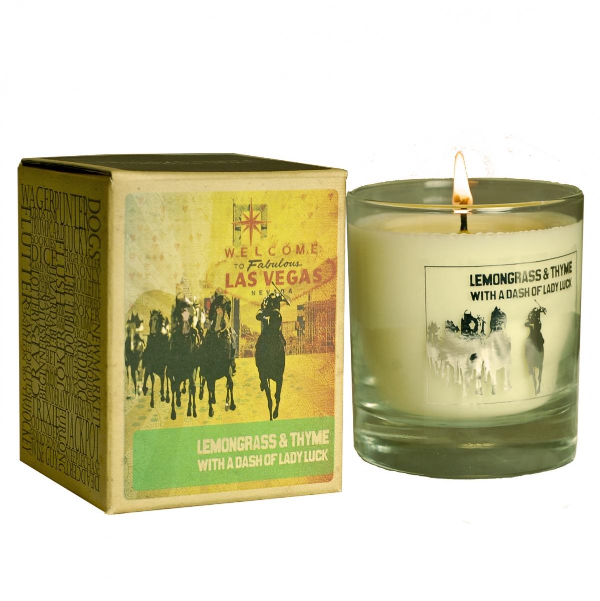 Vonná svíčka Canova Mans Candle - citronová tráva a tymián