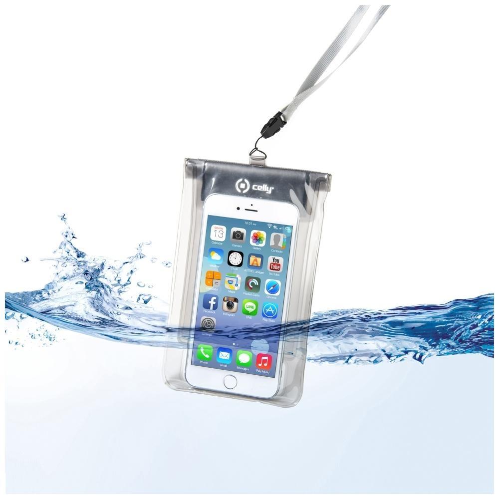 """Univerzální voděodolné pouzdro CELLY Splash Bag pro telefony 5,7"""" - bílé SPLASHBAGWH"""