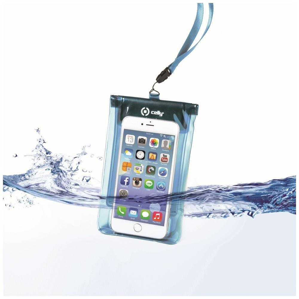 """Univerzální voděodolné pouzdro CELLY Splash Bag pro telefony 5,7"""" - modré SPLASHBAGLB"""