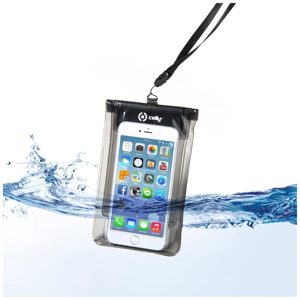 """Univerzální voděodolné pouzdro CELLY Splash Bag pro telefony 5,7"""" - černé SPLASHBAGBK"""