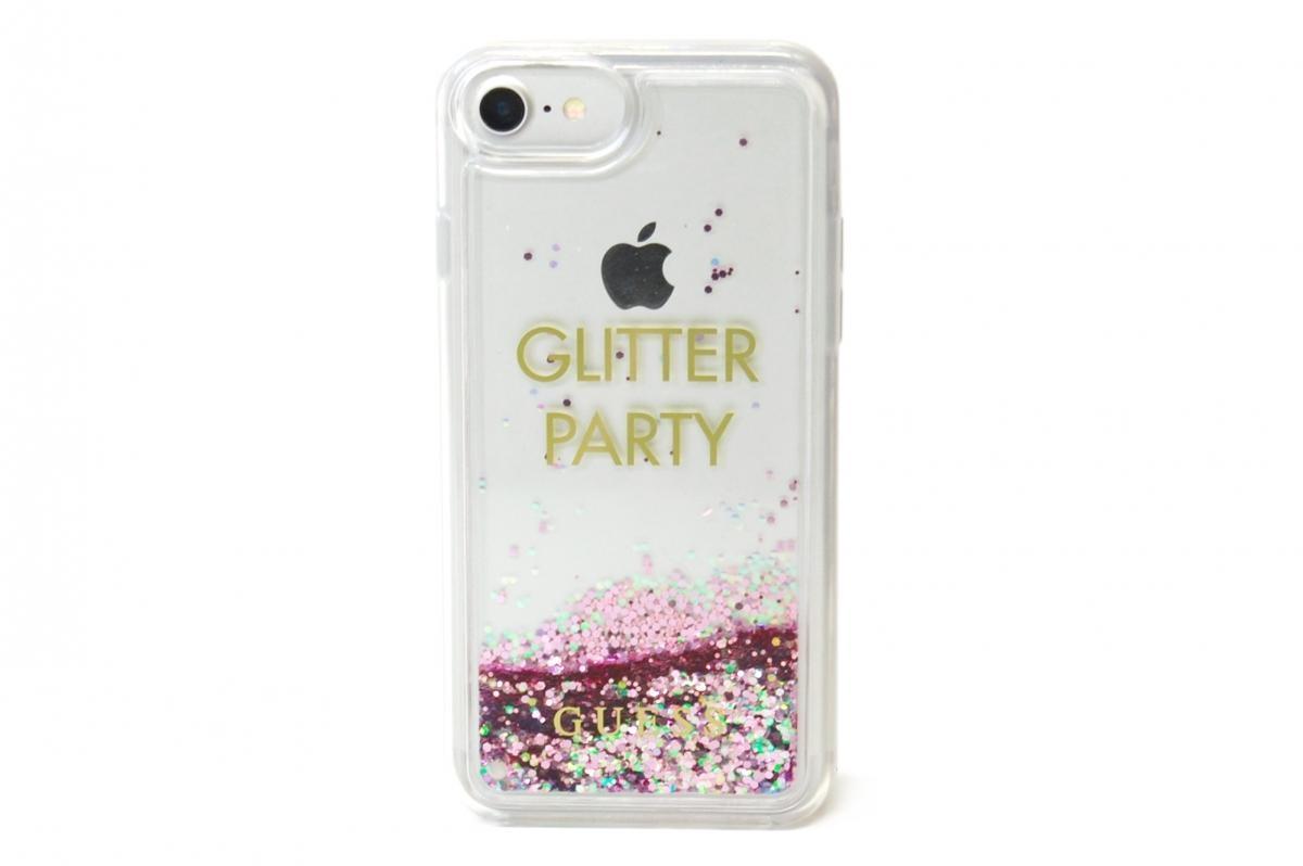 Zadní kryt Guess Liquid Glitter Party Purple GUHCP7LGLUQPU pro Apple iPhone 7 Plus/6 Plus/6S Plus GUHCP7LGLUQPU