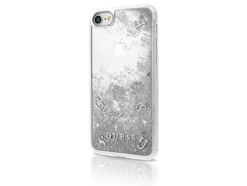 Zadní kryt Guess Liquid Glitter Silver GUHCP7GLUFLSI pro Apple iPhone 7/6/6S GUHCP7GLUFLSI